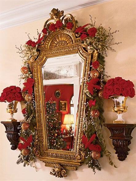 Decorate your Christmas mirrors 4 - Διακόσμησε χριστουγεννιάτικα τους καθρέφτες σου
