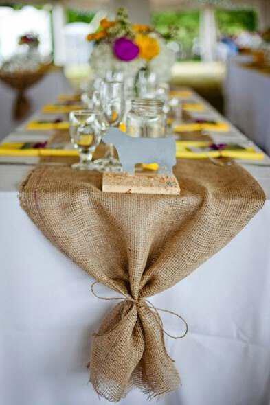 Use burlap in decorating a rustic wedding 6 - Χρησιμοποιήστε λινάτσα στη διακόσμηση ενός rustic γάμου