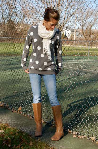Wear polka dots this winter (4)