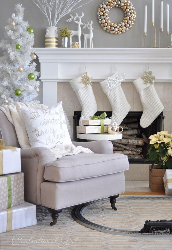 jpg5 - Λευκή χριστουγεννιάτικη διακόσμηση