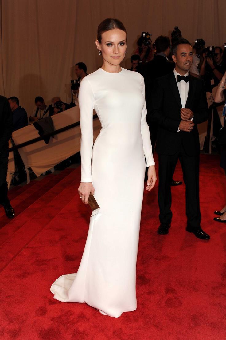 To elegant red carpet style της Diane Kruger