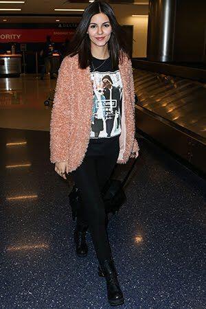 pos evalan celebrities ti faux fur sto airport style2 How the celebrities wear the faux fur at airport style