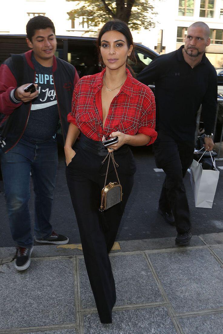 Sexy Estilo De La Calle Elegante De Kim Kardashian