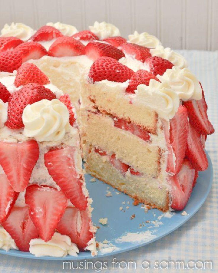 ftiaxe telio keik krema ke fraoules - Φτιάξε τέλειο κέικ με κρέμα και φράουλες