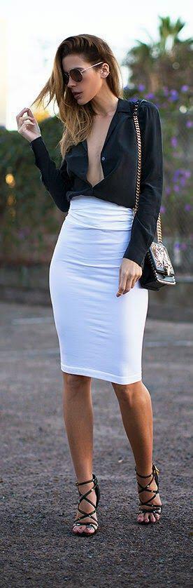 Η κομψή λευκή φούστα στο street style - Page 4 of 5 - dona.gr ba074adc0f4