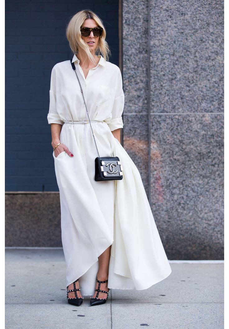 b34de63a8703 Βάλε λευκό φόρεμα σε στιλ πουκάμισο - dona.gr