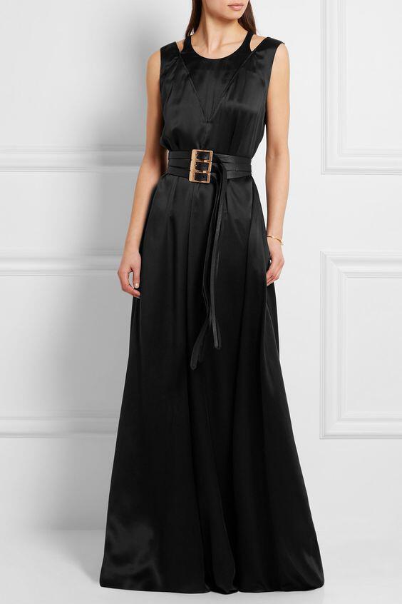 f6ed52dc604 pos-na-valis-modata-saten-maxi-forema-2. Συνεχίζουμε με ένα μαύρο σατέν  φόρεμα ...