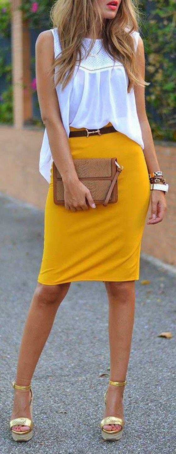 5 κίτρινες φούστες για ιδιαίτερο στιλ